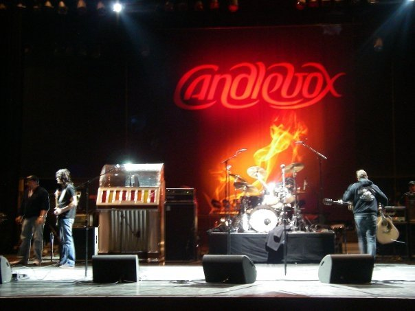 Photo of Candlebox logo on Stage